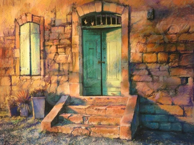 Summer Stays and Lazy Shadows - Pastel on board - 74 x 98 cm - SOLD