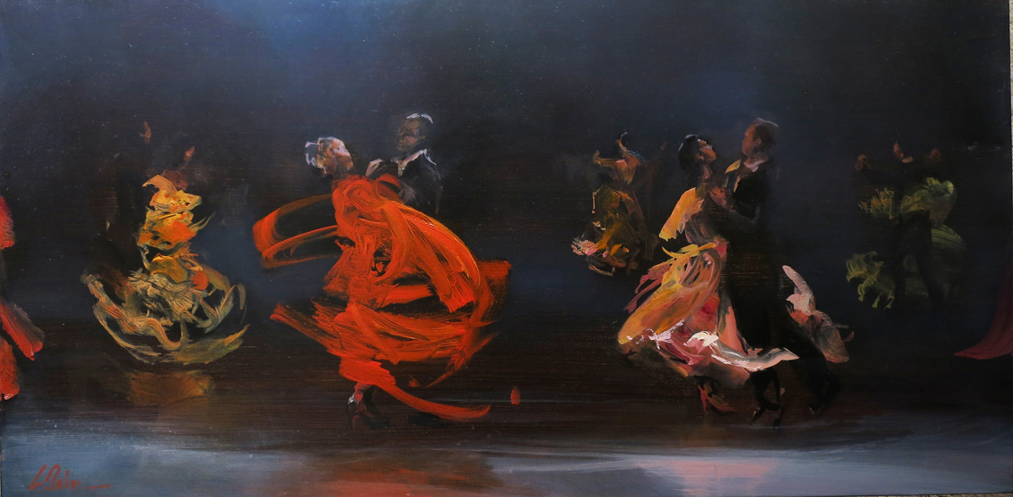 Carousel - oil on canvas - 51 x 102 cm - SOLD
