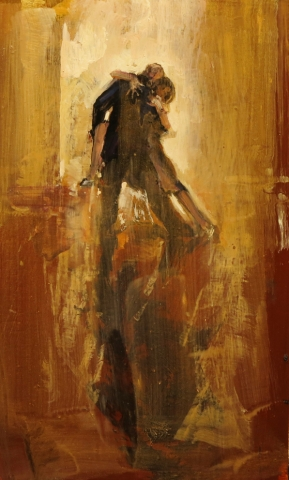 Studio 1 - oil on board - 30 x 19 cm - SOLD