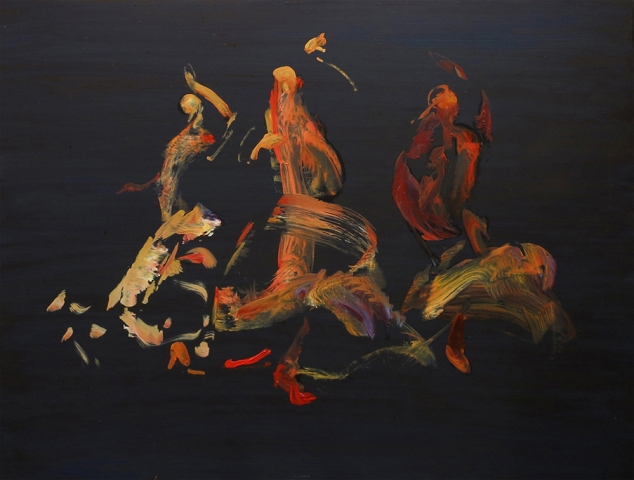 Harem - oil on board - 45 x 60 cm - SOLD