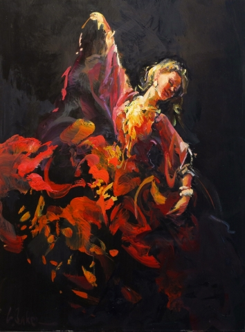 Tarantella (study) - oil on board - 60 x 45 cm - SOLD