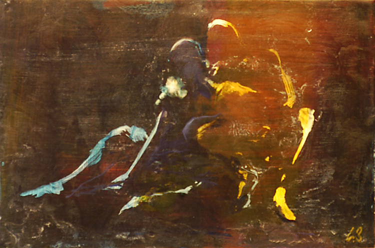 Synthesis - oil on board/wax varnish - 30 x 45 cm - SOLD