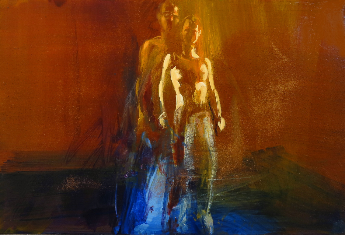 Fusion 1 - oil on board (under glass) - 30 x 45 cm - SOLD