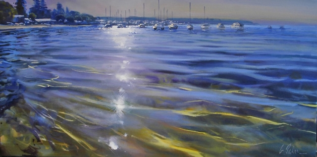 A Pathway of Diamonds - oil on canvas - 55 x 110 cm - SOLD