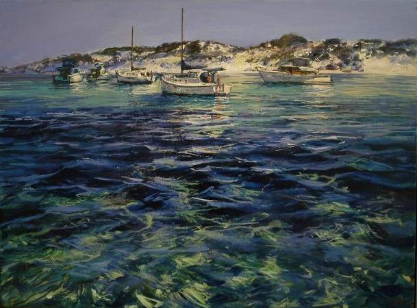 Parker Point Rhythms, Rottnest - oil on canvas - 91 x 122 cm - SOLD