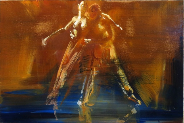Fusion 2 - oil on board (under glass) - 30 x 45 cm - SOLD