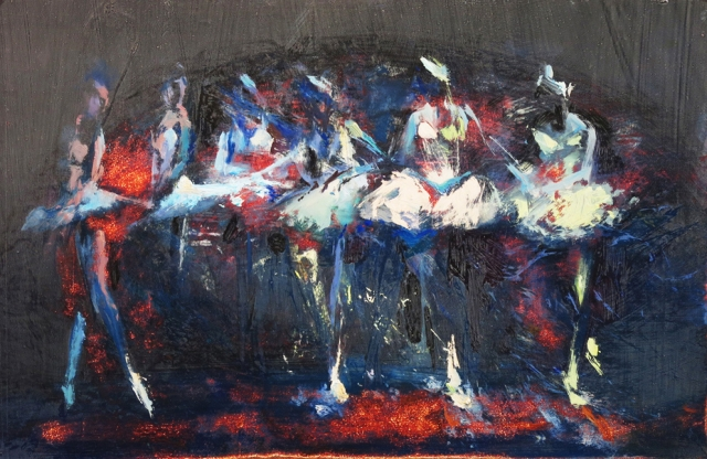 Adagio - oil on board - 38 x 58 cm