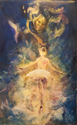 Genie - oil on board - 92 x 56 cm - SOLD