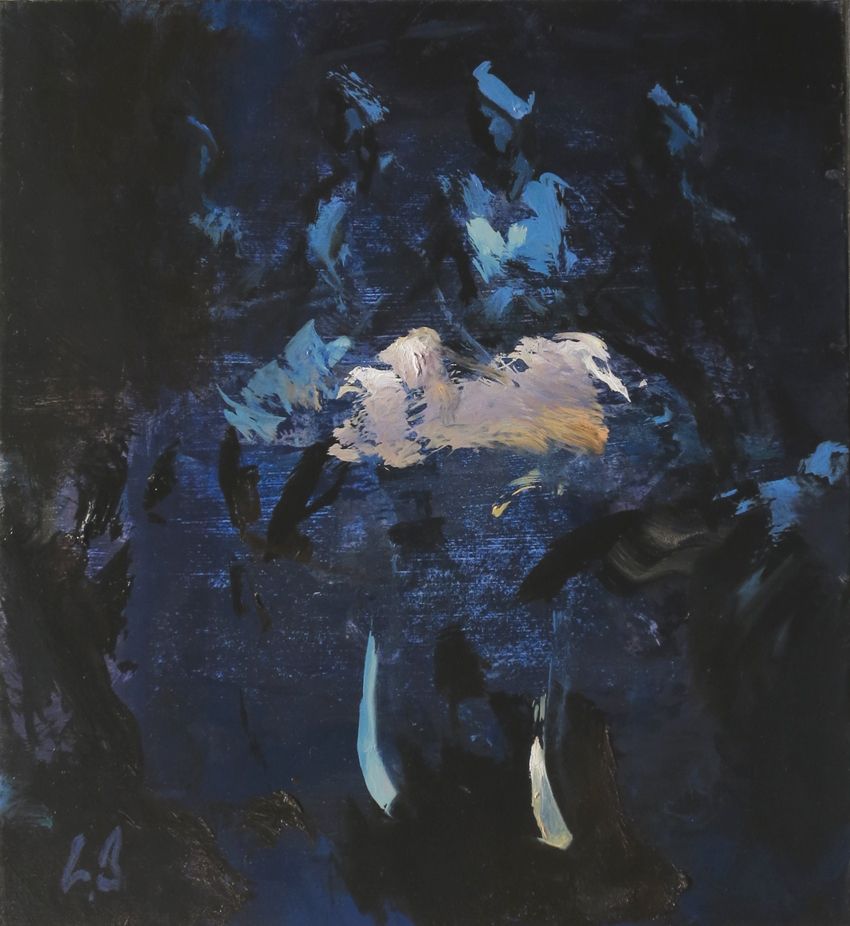 Blue Dancers - oil on board - 37 x 33 cm