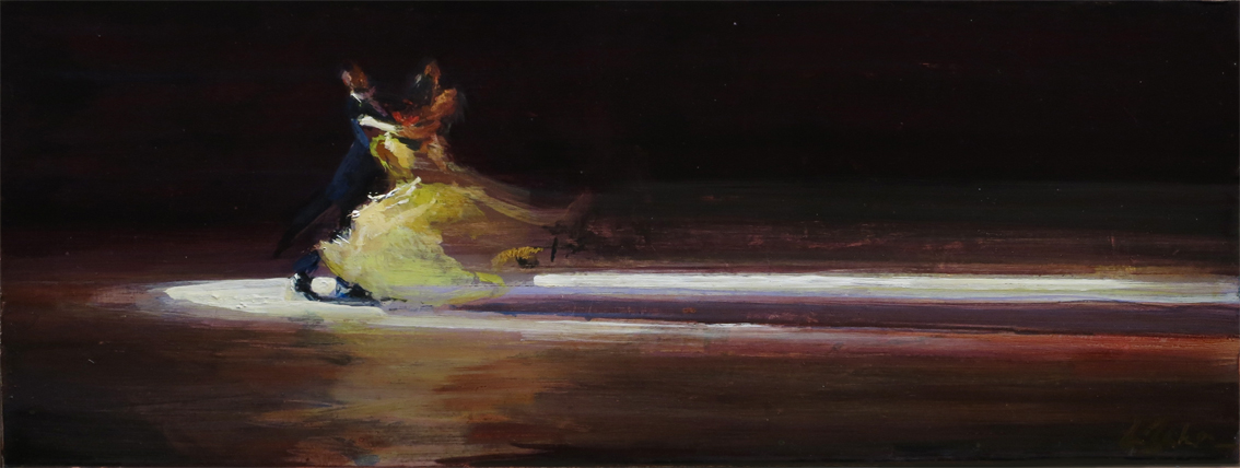 Smooth as Chocolate - oil on board - 23 x 60 cm - SOLD
