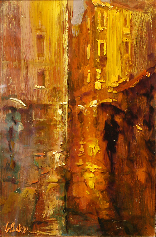 San Stefano - oil on perspex and board - 30 x 20 cm - SOLD