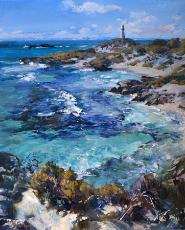 Bright Day in July, Rottnest - oil on canvas - 80 x 65 cm - SOLD