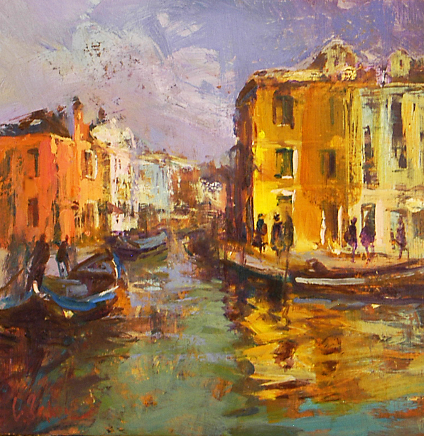 Burano - oil on board - 30 cm sq - SOLD