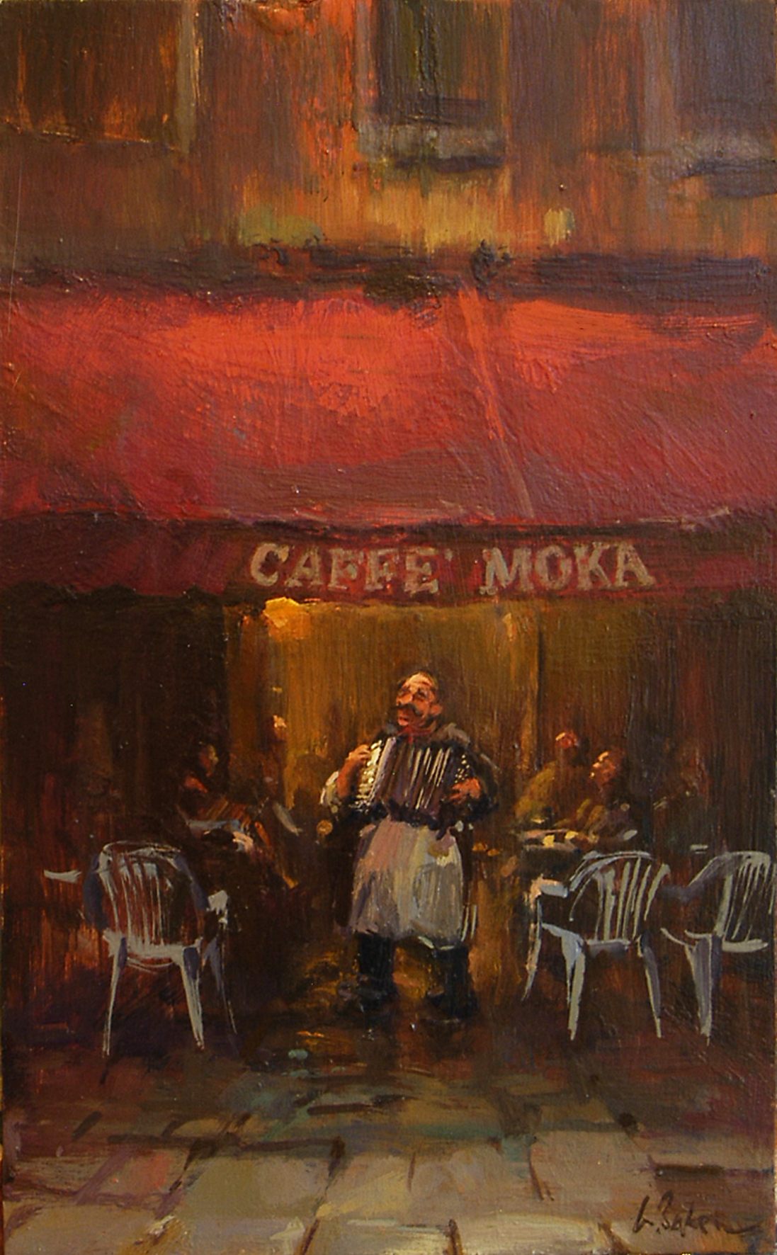 Caffe Moka - oil on board - 40 x 25 cm - SOLD