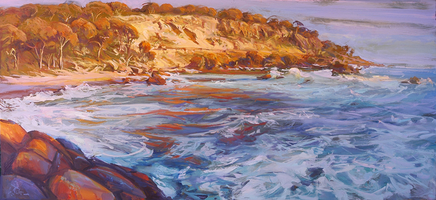 First Blush, Bunker Bay - oil on canvas - 65 x 155 cm - SOLD