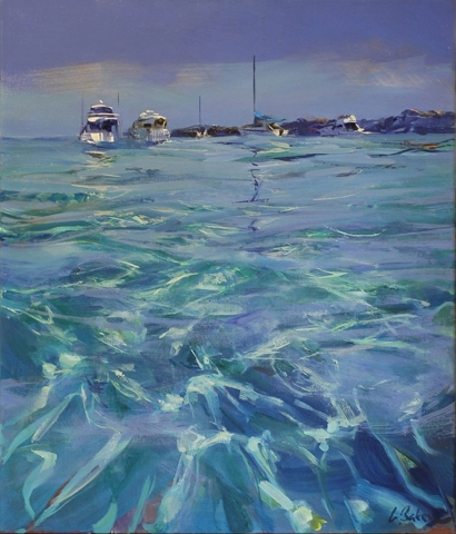 Flotilla, Parker Point - oil on canvas - 70 x 59cm - SOLD