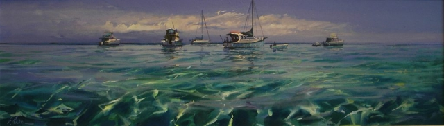 Rhythms of a Perfect Day - oil on canvas - 51 x 177 - SOLD