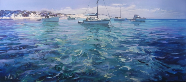 Summer Breeze - oil on canvas - 71 x 167 cm