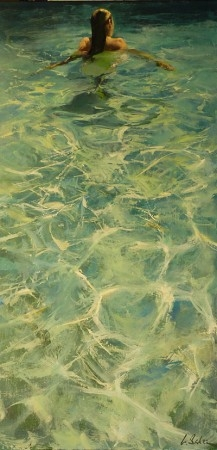 Anna 1 - oil on canvas - 102 x 51 cm - SOLD