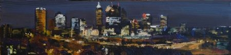 The Big Picture (sketch) - oil on board - 11 x 46 cm - SOLD