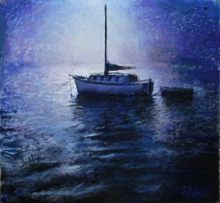 High Moon - pastel on board - 53 x 55 cm - SOLD