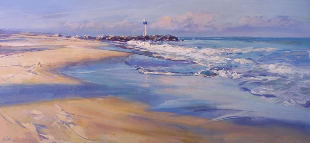 City Beach - oil on canvas - 76 x 165 cm