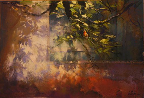 Songbird de San Moise - pastel on museum board - 50 x 75 cm - SOLD