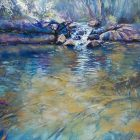 Below Roleystone Pool - pastel on board - 33 x 47 cm