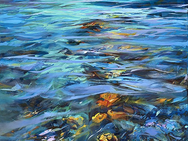 Greg Baker - 'The Bay Of Roses' - (Oil on canvas, 123x84cm)