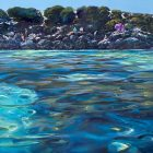 Greg Baker - 'The Lagoon at Little Salmon' - (Oil on canvas, 99x134cm)