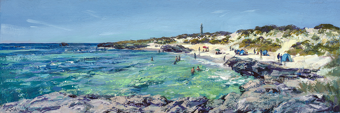Greg Baker - 'Top of the Basin' - (oil on canvas, 34x102cm)