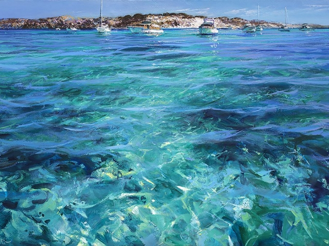 Greg Baker - 'Two Halvorsens' - (oil on canvas, 120x180cm)