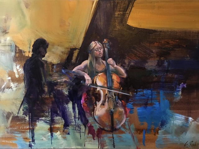 Greg Baker - Serenade - oil on canvas - 51 x 76 cms - SOLD