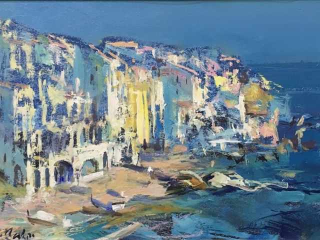 Greg Baker - Sketch - La Costa Brava (oil on board, 23 x 33 cms)