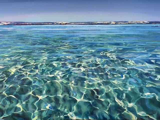 Greg Baker - Inside the Reef (oil on canvas, 83 x 122 cms)