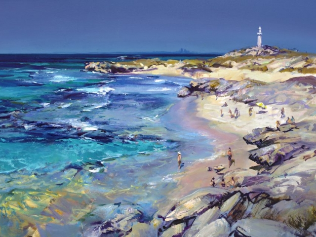 A Summer Basin, Rottnest - 60 x 96 cm - stretched - $1000 - Ltd Ed of 50