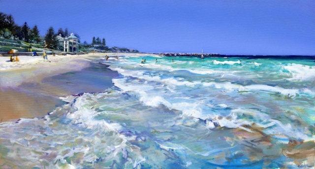 Early in the Season, Cottesloe - oil on canvas - 77 x 142 cm