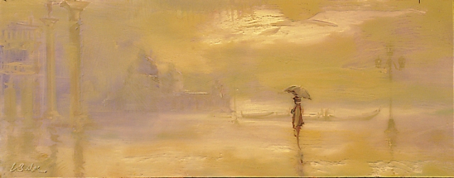 As if in a Dream, Wandering Lonely as a Cloud - oil on perspex - 37 x 95 cm - SOLD