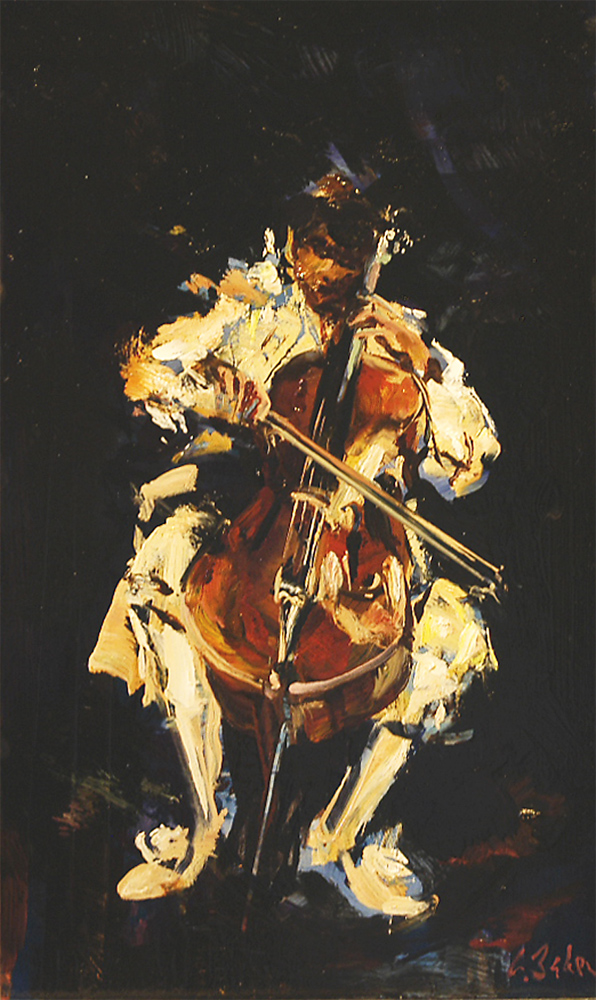 Virtuoso - oil on board - 60 x 36 cm - SOLD