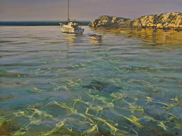 Greg Baker - Low Flight, Rottnest - oil on board - 85 x 117 cm - SOLD