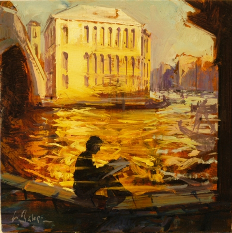 Putting me in the Picture, Rialto - oil on board - 30 x 30 cm - SOLD
