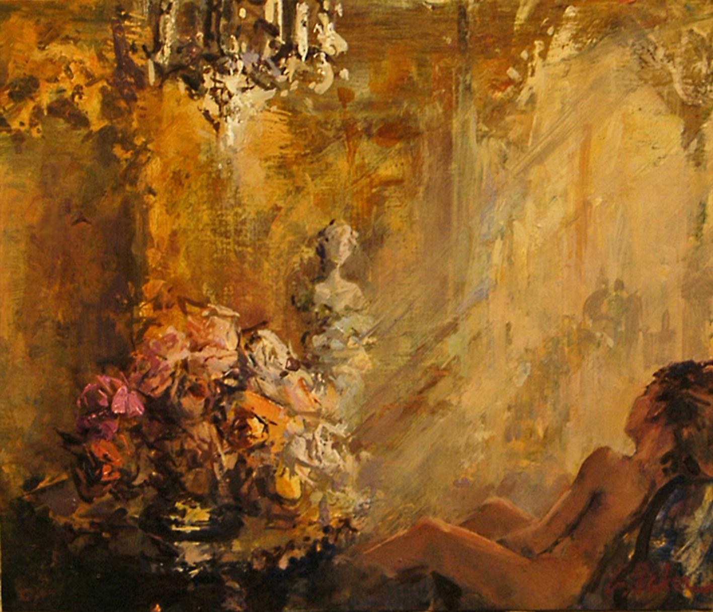 Il Sogno (sketch) oil on board - 30 x 36 cm - SOLD