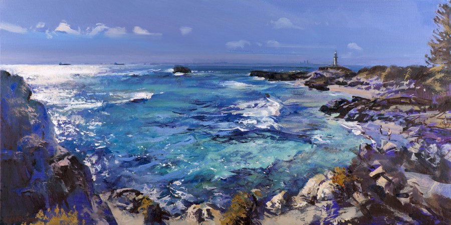 Diamond Water, Rottnest - oil on canvas - 51 x 102 cm - SOLD