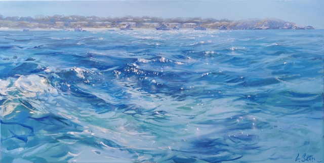 Dreamy Blue Light of the Afternoon - oil on canvas - 51 x 102 cm - SOLD