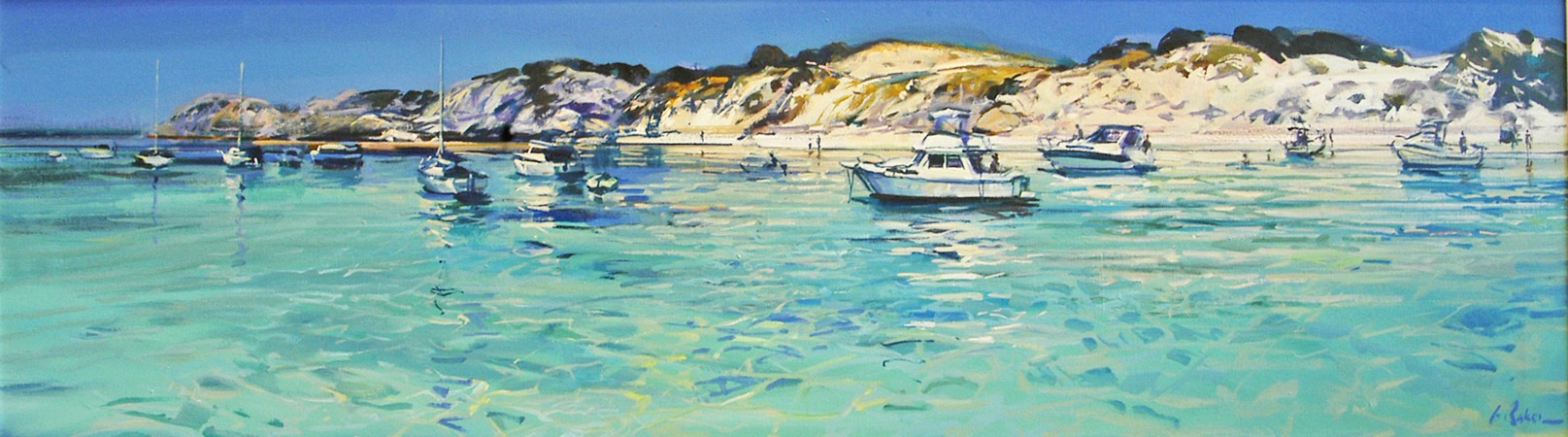 Parker Playground, Rottnest - oil on canvas - 51 x 177cm - SOLD