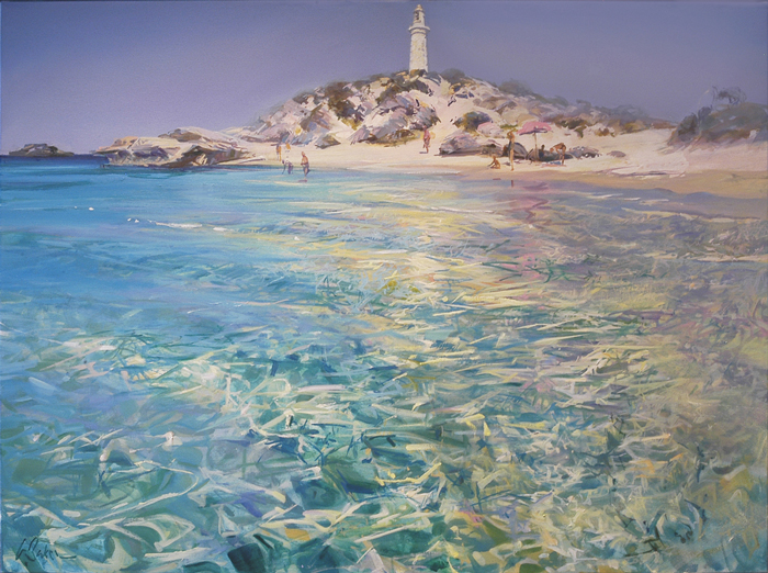 Pinky Beach, Rottnest (sketch) - pastel on board - 20 x 28 cm - SOLD