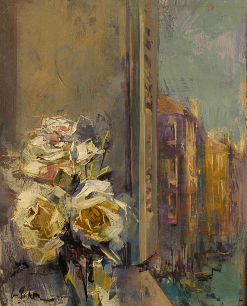 Postcard from a Romantic - oil on canvas - 45 x 38 cm - SOLD