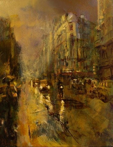 Rue St Jacques, Revisited - oil on canvas - 70 x 55 cm - SOLD