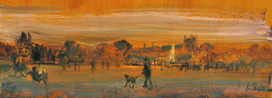 Splash of Colour Tuilleries (sketch) - 17 x 47 cm