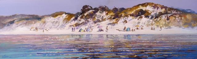 Summer Rhythm - oil on perspex - 33 x 118 cm - SOLD
